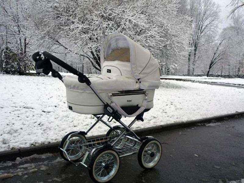 Зимние утепленные детские коляски