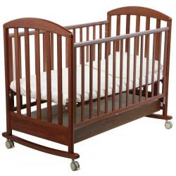 Орех тёмный - Papaloni кроватка-качалка Джованни 120х60