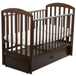 Шоколадный - Papaloni кроватка-маятник Джованни 120х60