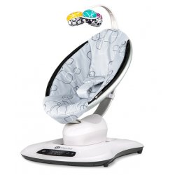 Серый плюш - 4moms Кресло-качалка MamaRoo 4.0