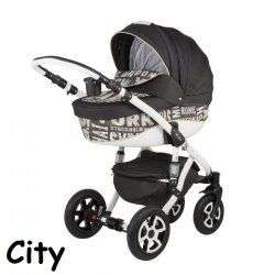 CITY BROWN - Детская коляска Adamex Barletta World 3 в 1