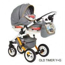 OLD TIMER YELLOW GREY - Детская коляска Adamex Barletta World 2 в 1