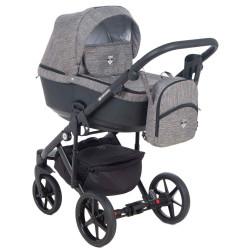 EM-255 кожа графит+т.серый - Детская коляска Adamex Emilio 3 в 1