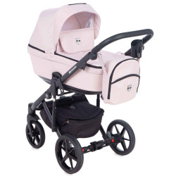 EM-259 кожа пудровая+пудровый - Детская коляска Adamex Emilio 3 в 1