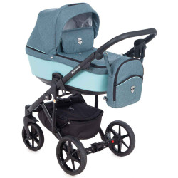 EM-265 кожа аква+джинс - Детская коляска Adamex Emilio 3 в 1
