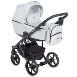 EM-268 кожа серый металлик+св.серый - Детская коляска Adamex Emilio 3 в 1