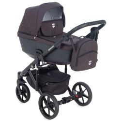 EM-270 кожа черный металлик+черный - Детская коляска Adamex Emilio 3 в 1