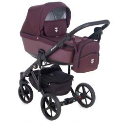 EM-274 кожа бордовый металлик+бордовый - Детская коляска Adamex Emilio 3 в 1
