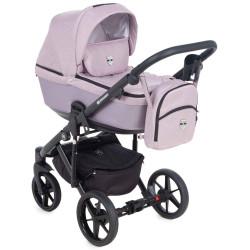 EM-275 кожа сиреневый металлик+сиреневый - Детская коляска Adamex Emilio 3 в 1