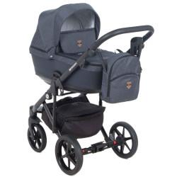 EM-278 кожа синяя+синий - Детская коляска Adamex Emilio 3 в 1