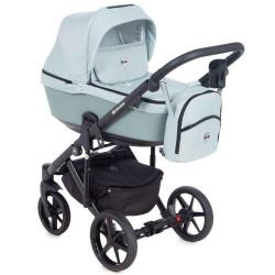 EM-279 кожа мятная+мятный - Детская коляска Adamex Emilio 3 в 1