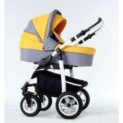 10 серо-желтый - Детская коляска Amadeus Bloom 3 в 1