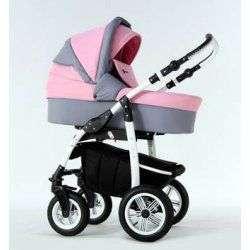 01 серо-розовый - Детская коляска Amadeus Bloom 2 в 1