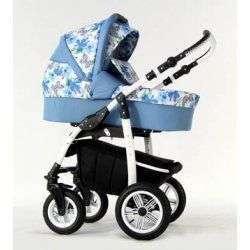 08 синий - Детская коляска Amadeus Bloom 2 в 1