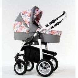 06 серо-розовый - Детская коляска Amadeus Bloom 2 в 1