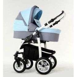 03 голубой - Детская коляска Amadeus Bloom 2 в 1