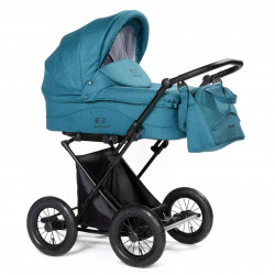 Turquoise - Детская коляска BEBIZARO CLASSIC (люлька)