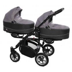 09 Silver - Детская коляска BabyActive Twinny (2 в 1)