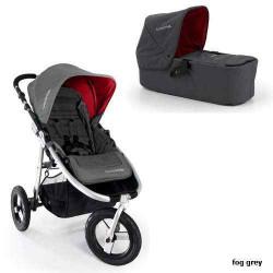 fog grey - Детская коляска Bumbleride Indie Carrycot (2 в 1)
