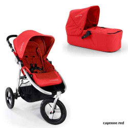 cayenne red - Детская коляска Bumbleride Indie Carrycot (2 в 1)