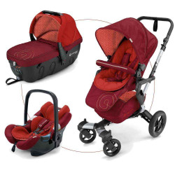 Flaming Red 2017 - Коляски Concord Neo Travel Set (3 в 1), люлька Sleeper, автокресло Air