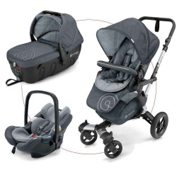 Steel Grey 2017 - Коляски Concord Neo Travel Set (3 в 1), люлька Sleeper, автокресло Air