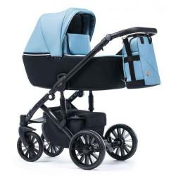 Голубой - Детская коляска DeLorean Active 3 в 1