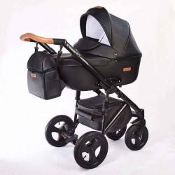 08.leather black - Детская коляска Nastella Martin 2 в 1
