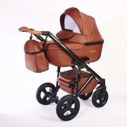 09.leather brown - Коляска Nastella Martin 3 в 1