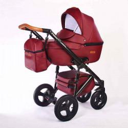 10.leather cherry - Детская коляска Nastella Martin 3 в 1