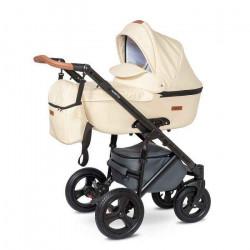 05.leather ecru - Детская коляска Nastella Martin 3 в 1