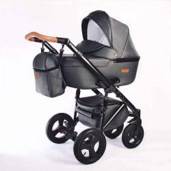 04.leather graphite - Детская коляска Nastella Martin 2 в 1