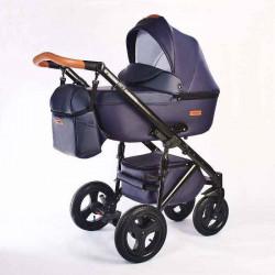 11.leather navy - Детская коляска Nastella Martin 3 в 1