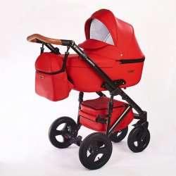 02.leather red - Детская коляска Nastella Martin 3 в 1