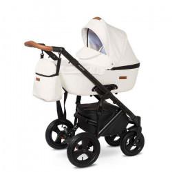 01.leather white - Детская коляска Nastella Martin 3 в 1