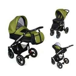 green - Детская коляска Noordline Beatrice (3 в 1) ALU NEW