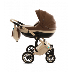 Бежевый/Каппучино - Детская коляска Noordline Stephania 3 в 1 ECO