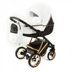 gold_white - Детская коляска RAY Agix 3 в 1