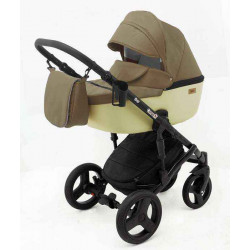 1 Бежевый Молочный - Детская коляска RAY Corsa 3 в 1