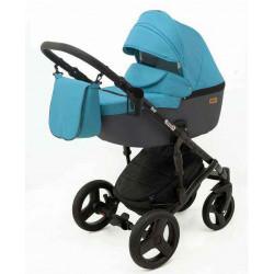 2 Бирюзовый Серый - Детская коляска RAY Corsa 3 в 1