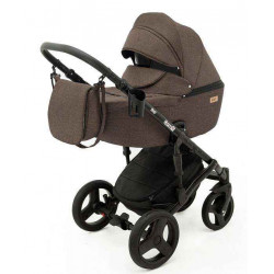 13 Коричневый лен - Детская коляска RAY Corsa 3 в 1