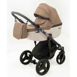 9 Коричневый лен Бежевый лен - Детская коляска RAY Corsa 3 в 1