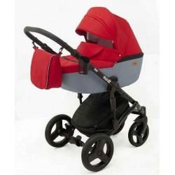 6 Красный Серый - Детская коляска RAY Corsa 2 в 1