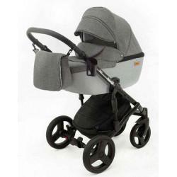 8 Серый лен Серый - Детская коляска RAY Corsa 3 в 1