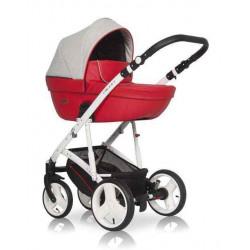 04 серый-красный - Детская коляска Riko Basic Aicon 2 в 1
