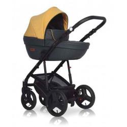 06 желтый-графит - Детская коляска Riko Basic Aicon 2 в 1