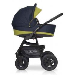 01 серый-салатовый - Детская коляска Riko Basic Alfa 2 в 1