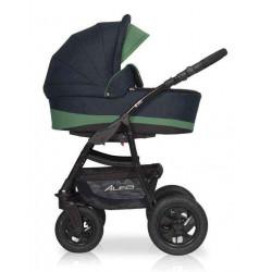 02 серый-изумруд - Детская коляска Riko Basic Alfa 2 в 1