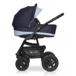 03 серый-голубой - Детская коляска Riko Basic Alfa 2 в 1