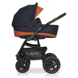 04 серый-оранжевый - Детская коляска Riko Basic Alfa 2 в 1
